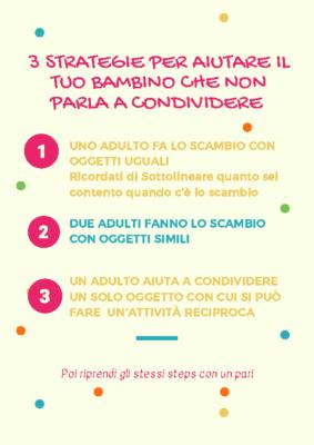 3 strategie per aiutare il tuo bambino che non parla a condividere