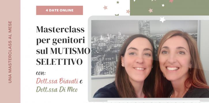 MUTISMO SELETTIVO: 4 masterclasses online per genitori